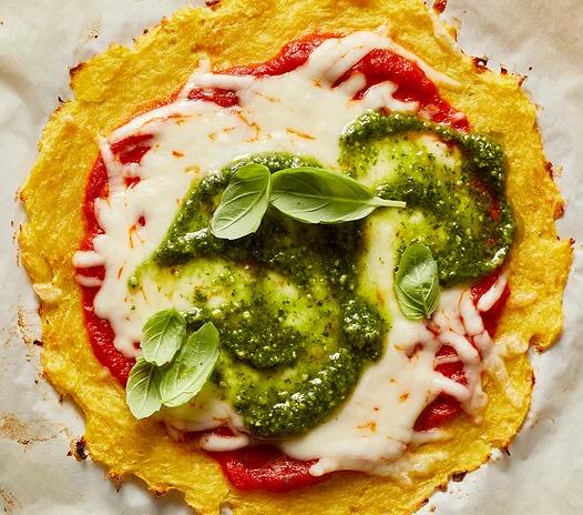 Η πίτσα με βάση την κολοκύθα χωρίς γλουτένη
